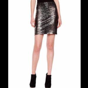 New Michael Kors Metallic Foil Bandage Skirt 2